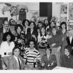 The Muppet Show cast and crew, late 1970s. Nelson is second from left in the back row.