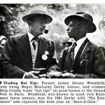 Bing Crosby and Jimmy Winkfield, 1940s.