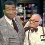 """James Earl Jones and Will Lee in """"A Walking Tour of Sesame Street,"""" 1979."""