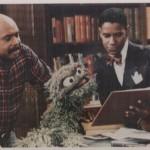Orman and Denzel Washington with Oscar the Grouch, Sesame Street, 1980s.